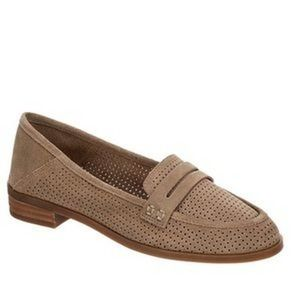Lucky Brand Caylon Tan Perforated Suede Loafers